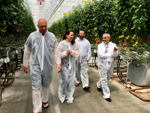 Greenhouse Tour with Minister of Future Food Security
